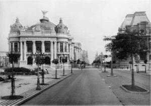 Central Avenue and Theatro Municipal and Avenida Central in Rio de Janeiro, ca. 1909