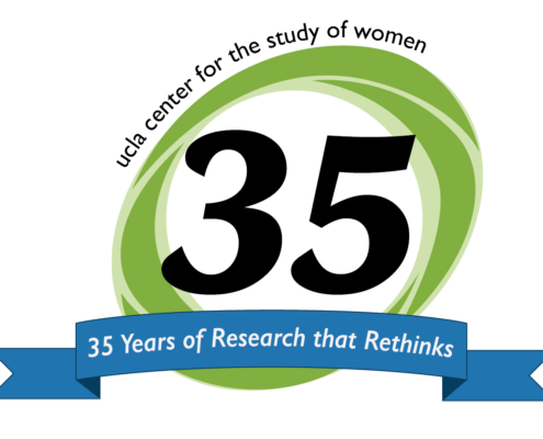 """remodeled CSW logo with a green oval around """"35"""" and a blue banner stating """"35 years of research that rethinks"""""""